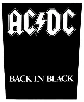 AC/DC - Back in black      Rückenaufnäher