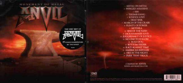 ANVIL - Monument of metal      CD