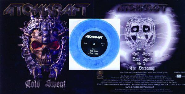ATOMKRAFT - Cold sweat - clear blue vinyl      Single