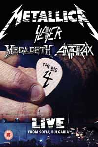 THE BIG 4: METALLICA, SLAYER, MEGADETH, ANTHRAX - Live from Sofia, Bulgaria - Dbl. Bluray!      Blu-Ray