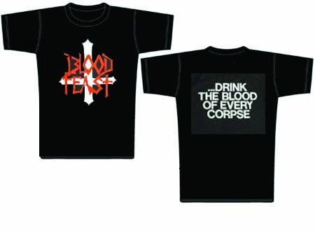 BLOOD FEAST - Drink the blood - size XL      T-Shirt - 100 % Baumwolle