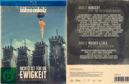 BÖHSE ONKELZ - Nichts ist für die Ewigkeit - 2-Bluray      Blu-Ray