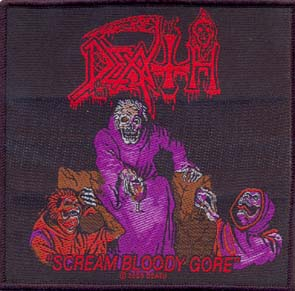 DEATH - Scream bloody gore      Aufnäher