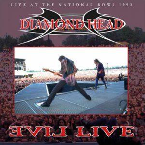 DIAMOND HEAD - Evil live - clear vinyl      DLP