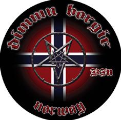 DIMMU BORGIR - Black Metal (rund)      Rückenaufnäher
