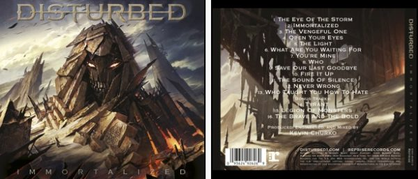 DISTURBED - Immortalized - limited version      CD