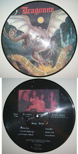 DRAGONNE - On dragon`s wings - Pic.Disc      LP