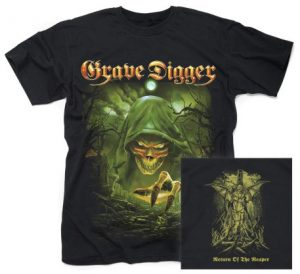 GRAVE DIGGER - Return of the reaper - size L      T-Shirt - 100 % Baumwolle