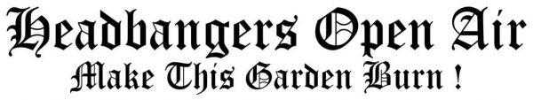 HEADBANGERS OPEN AIR - HOA - carsticker / Heckscheibenaufkleber      Sticker