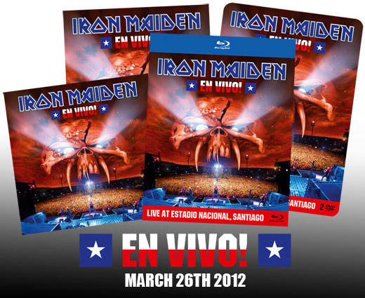 IRON MAIDEN - En vivo! & Iron Maiden Bierdeckel!      Blu-Ray