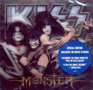 KISS - Monster - Original logo - 3 d cover!      CD