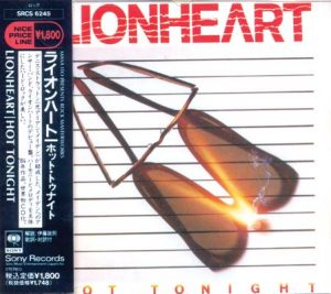 LIONHEART - Hot tonight      CD