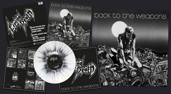 LIVING DEATH - Back to the weapons - white splatter vinyl      MLP
