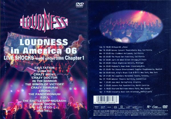 LOUDNESS - In America 06 - Live shocks world circuit Chapter 1      DVD