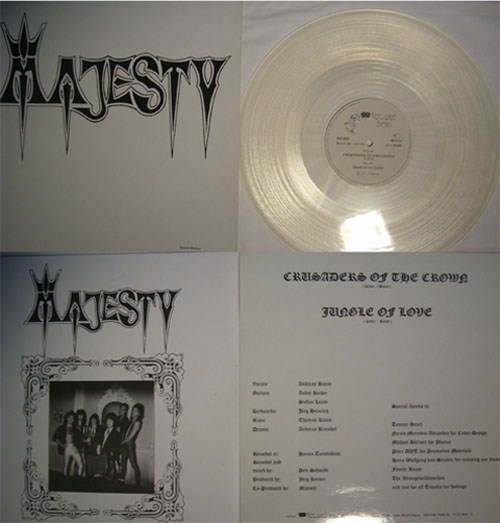 MAJESTY - Crusaders of the crown - clear vinyl      MLP