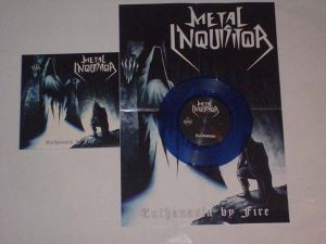 METAL INQUISITOR - Euthanasia by fire & poster, blue vinyl      Single