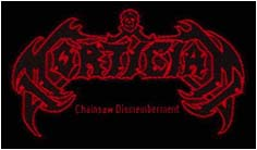 MORTICIAN - Chainsaw dismemberment - logo      Aufnäher