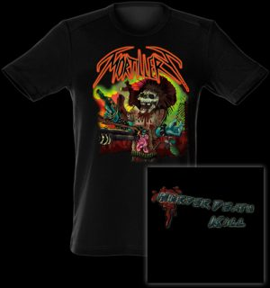MORTILLERY - Murder death kill - size L      T-Shirt - 100 % Baumwolle