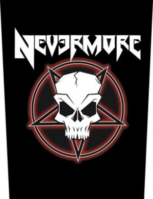 NEVERMORE - Tribal skull      Rückenaufnäher