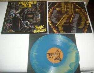 OCTOBER 31 - Bury the hatchet      LP