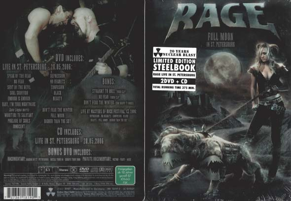 RAGE - Full moon in St. Petersburg - 2-DVD & CD steelbox      Box
