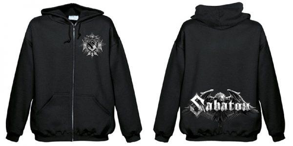 SABATON - Eagle logo zip - size L      Kapuzenpulli - 100 % Baumwolle