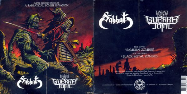 SABBAT / GUERRA TOTAL - split EP      Single