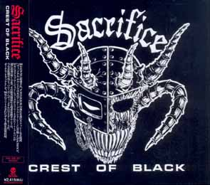 SACRIFICE - Crest of black - rerelease      CD