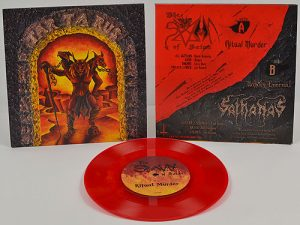 SATHANAS / SPAWN OF SATAN - split EP - red vinyl      Single