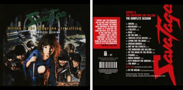 SAVATAGE - Sirens & Dungeons are calling - the complete sessions      CD