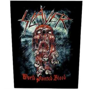 SLAYER - World painted blood      Rückenaufnäher
