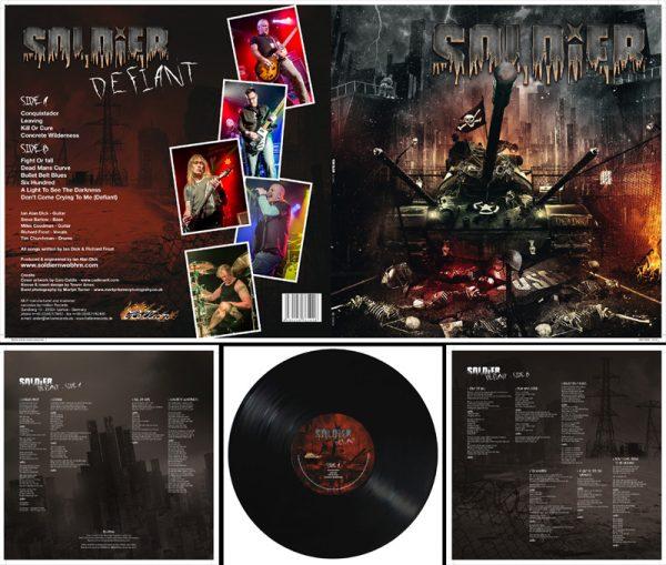 SOLDIER - Defiant - black vinyl, limited 200 copies      LP