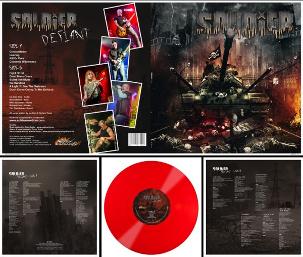 SOLDIER - Defiant - red vinyl, limited 100 copies      LP