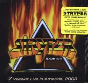 STRYPER - 7 weeks live in America      CD