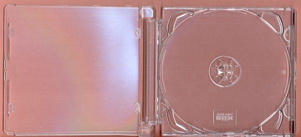 SUPER JEWEL CASE CD HÜLLEN - Clear tray für 1 CD/DVD      Zubehör