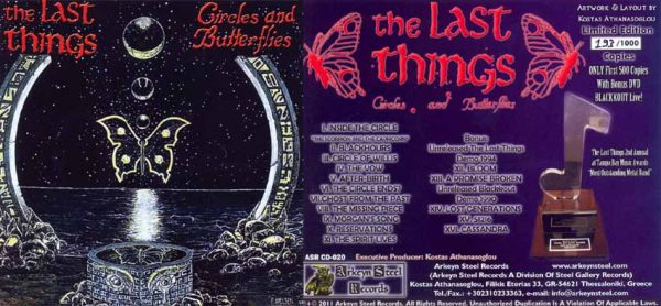 THE LAST THINGS - Circles and butterflies & Blackkout live DVD!      CD&DVD