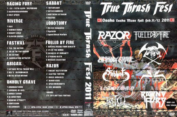 TRUE THRASH FEST 2011 - Osaka Febr. 11 / 12 - Japan imp.      DVD
