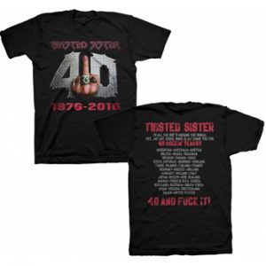 TWISTED SISTER - 40 and fuck it - size L      T-Shirt - 100 % Baumwolle