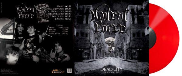 VIOLENT FORCE - Dead City - First Demo `85 - red vinyl      MLP