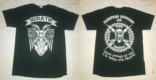 WRATH - European invasion 2015 - size M, L or XL      T-Shirt - 100 % Baumwolle